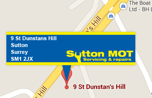 Sutton MOT's - location on map